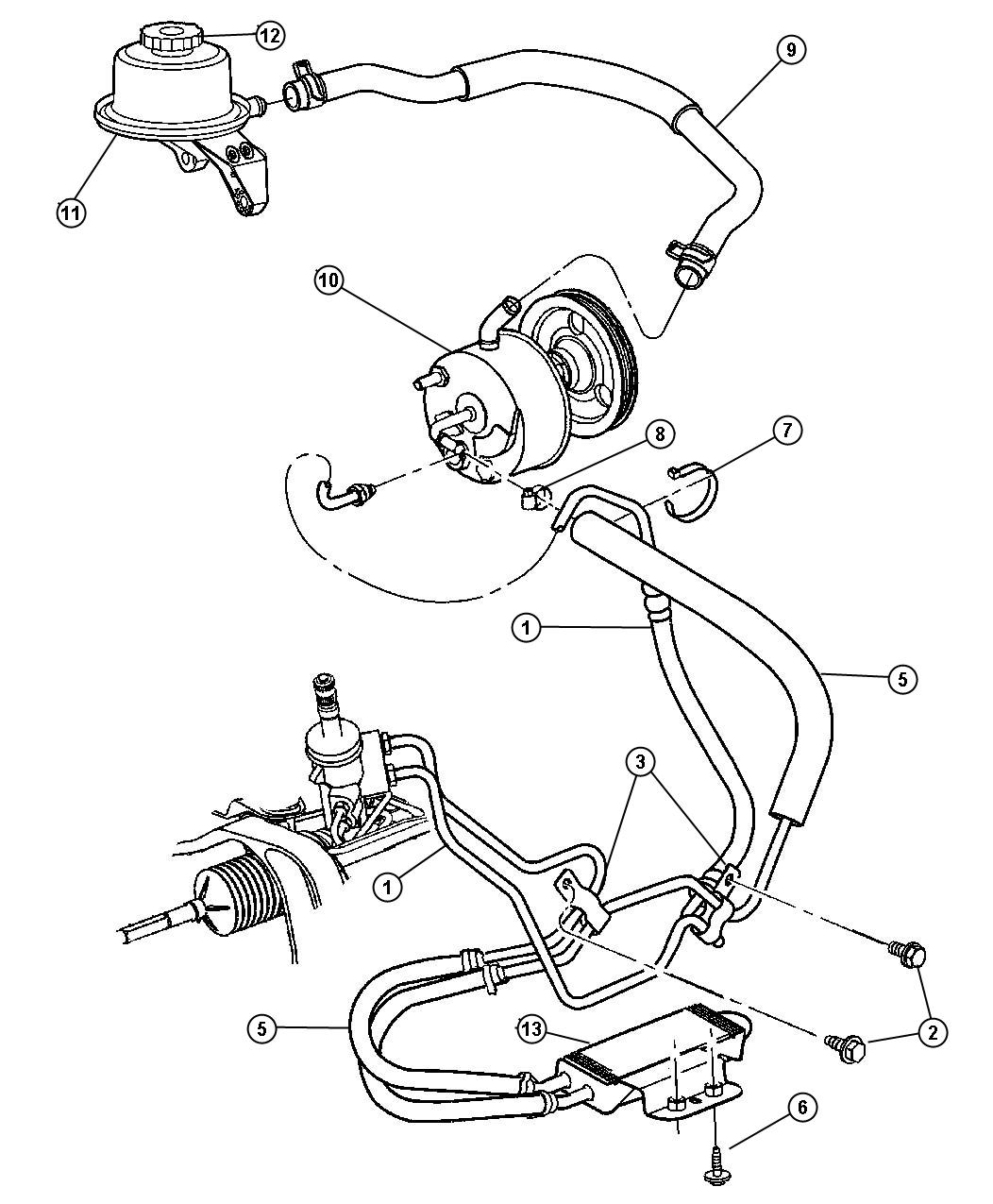 2001 Dodge Dakota Steering Parts Diagram, 2001, Free