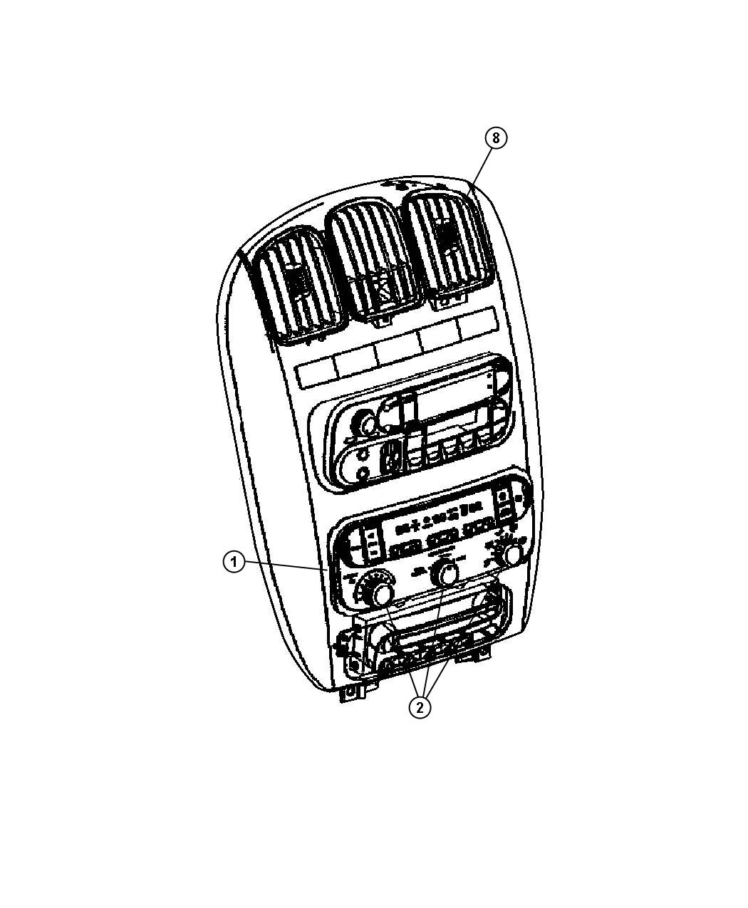 2004 Chrysler Town & Country Control. Used for: a/c and