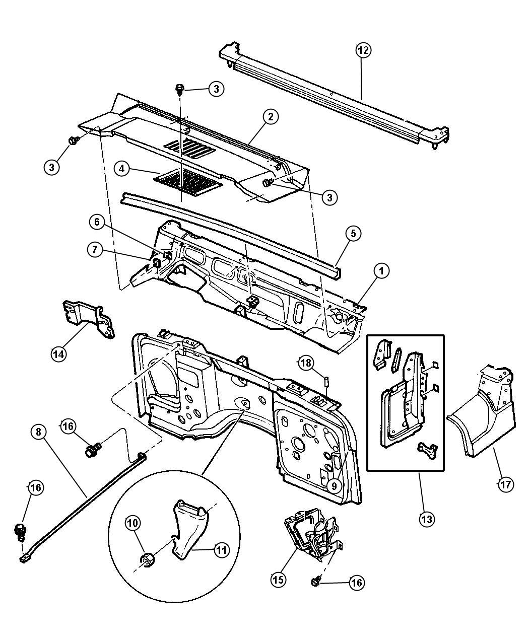 Jeep Wrangler Oem Parts Diagram Grille. Jeep. Auto Wiring