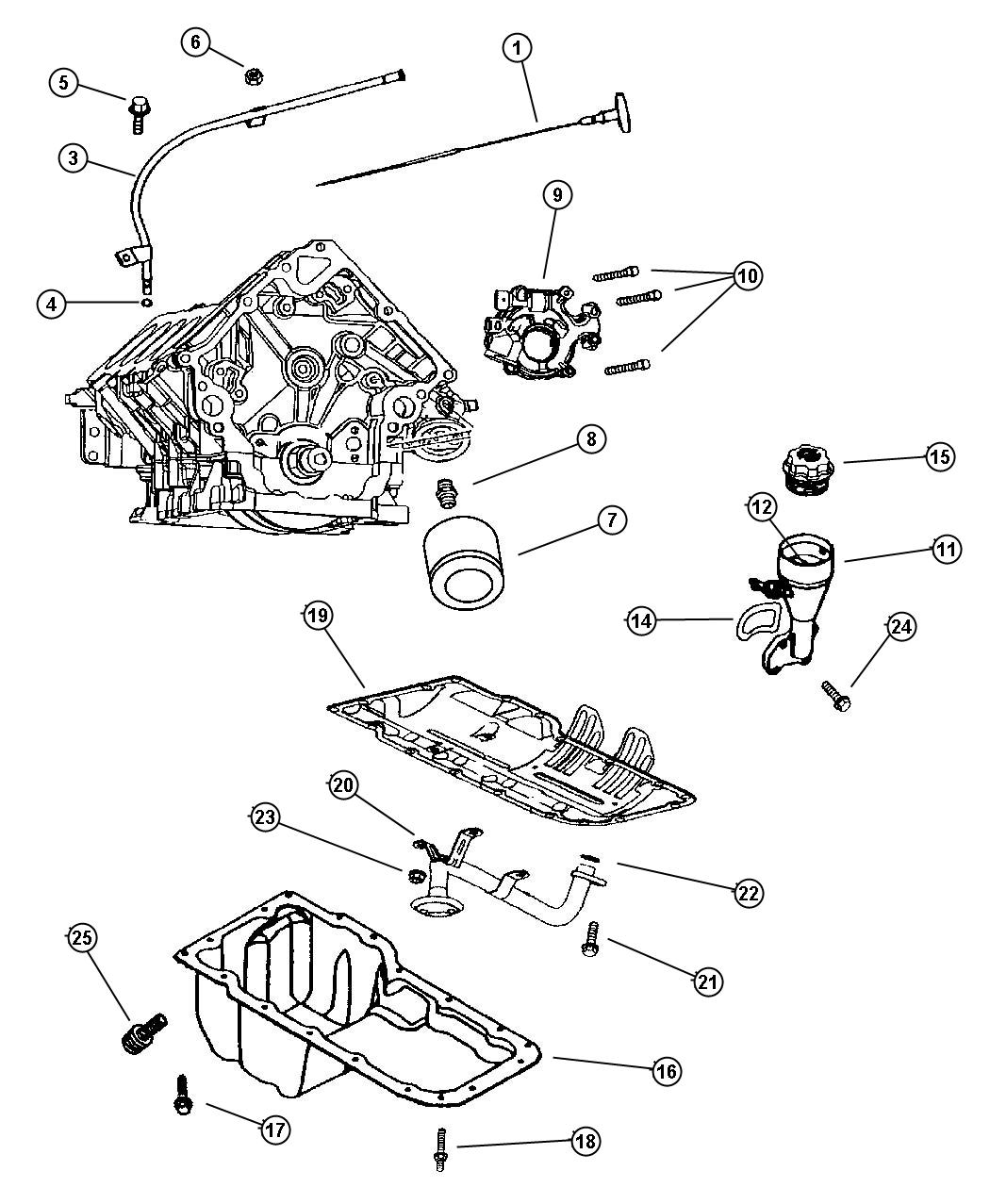 Engine Oiling, 4.7 [Engine- 4.7L V8 MPI].