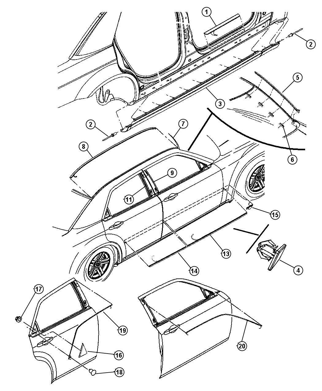 Oem 2005 Dodge Magnum Accessories Parts Online Factory