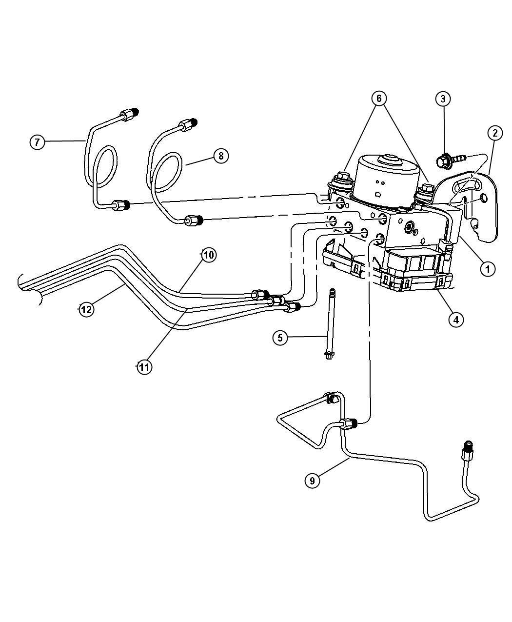 Chrysler Pt Cruiser Module. Anti-lock brakes. Disctraction
