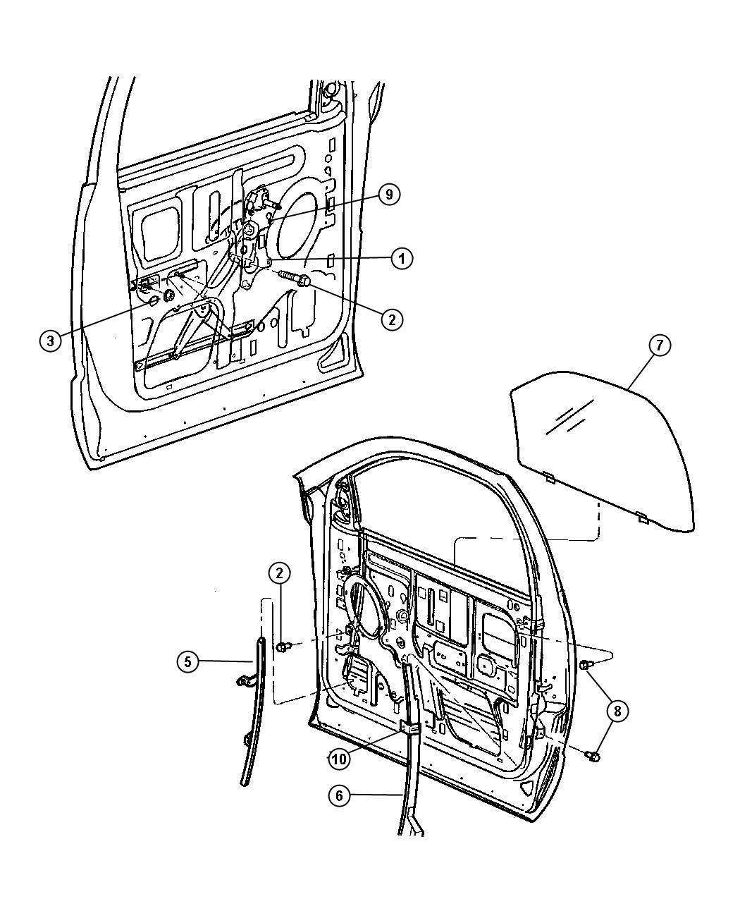 2004 Dodge Ram 1500 Handle. Window regulator. Used for