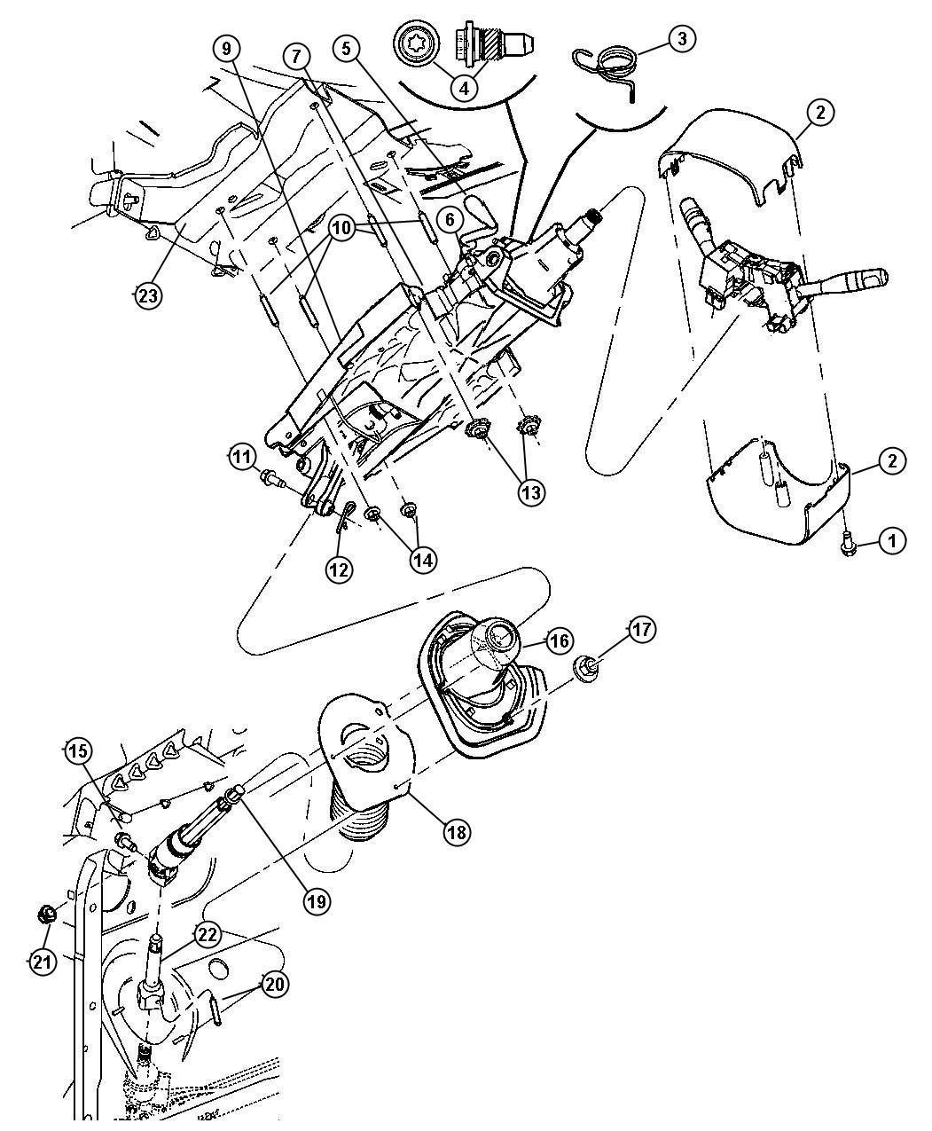 Chrysler Pacifica Shaft. Intermediate, steering column