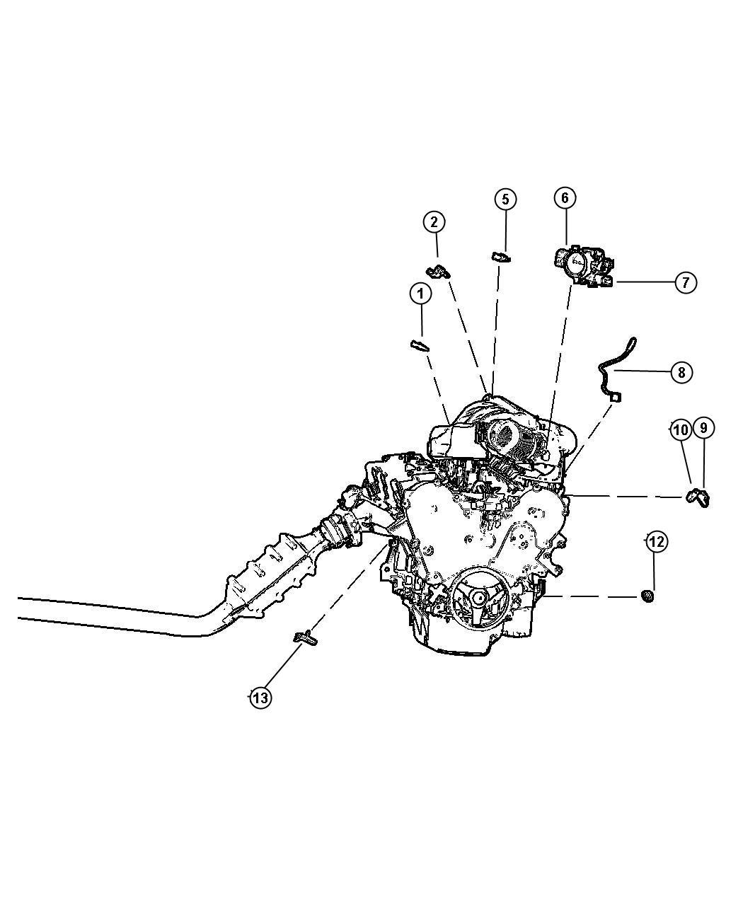 Chrysler Pacifica Sensors Engine