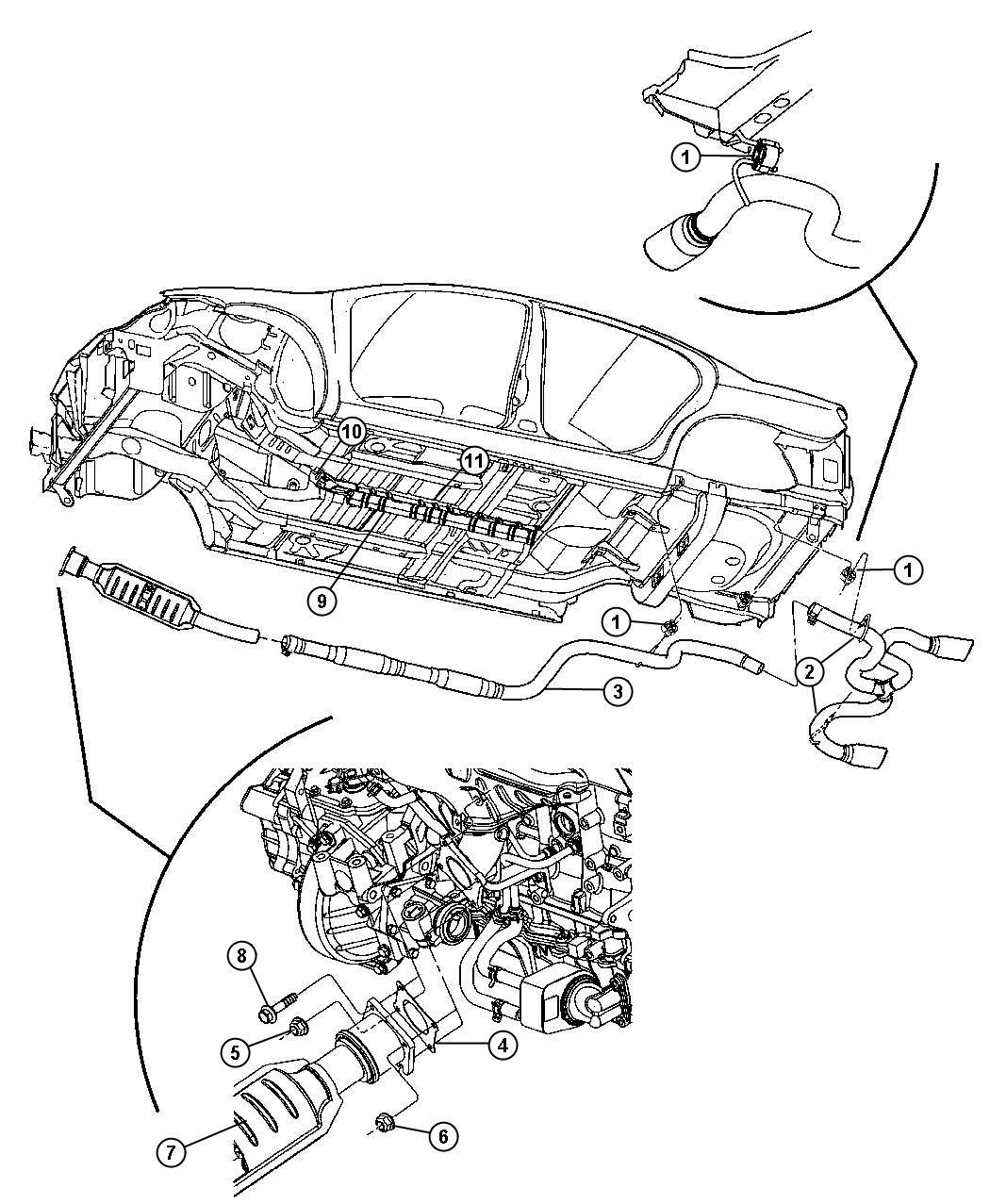 Dodge Neon Exhaust System Engine