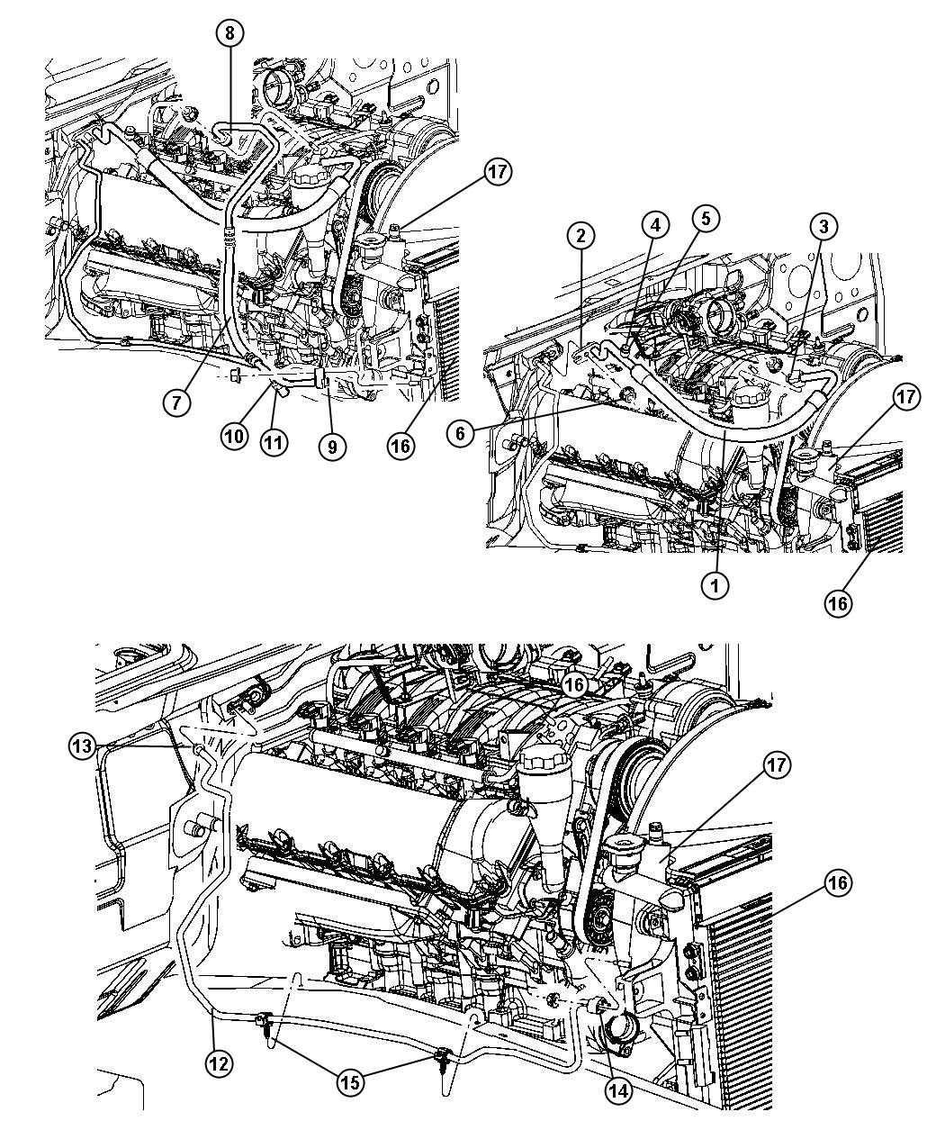 Jeep Accumulator Condenser And Lines 3 7 4 7l Engine