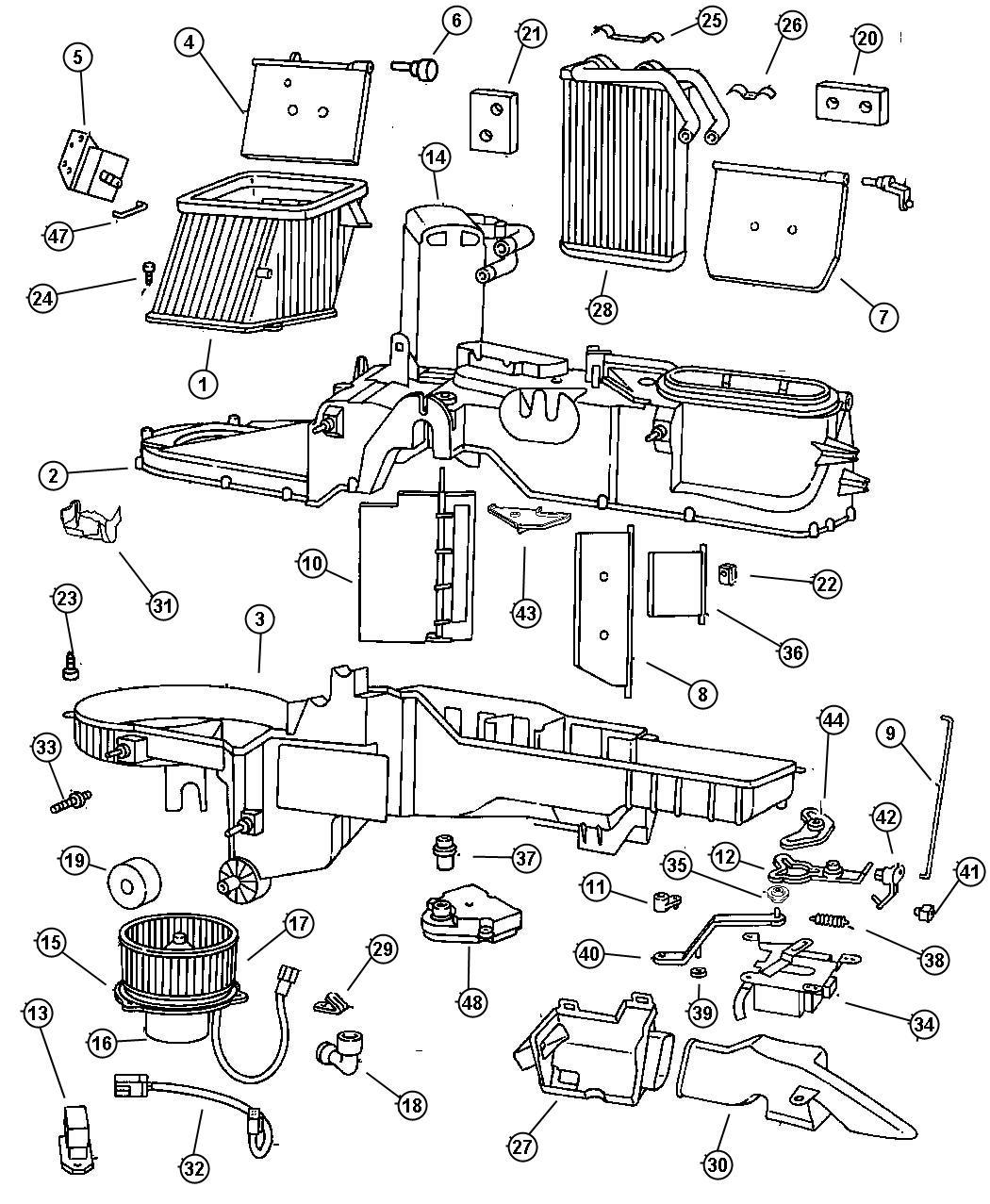 Dodge Ram 3500 Retainer. Wiring harness. Hca, ter, dhc