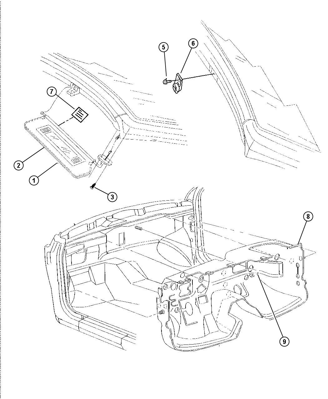Service manual [Headliner Removal For A 1997 Chrysler