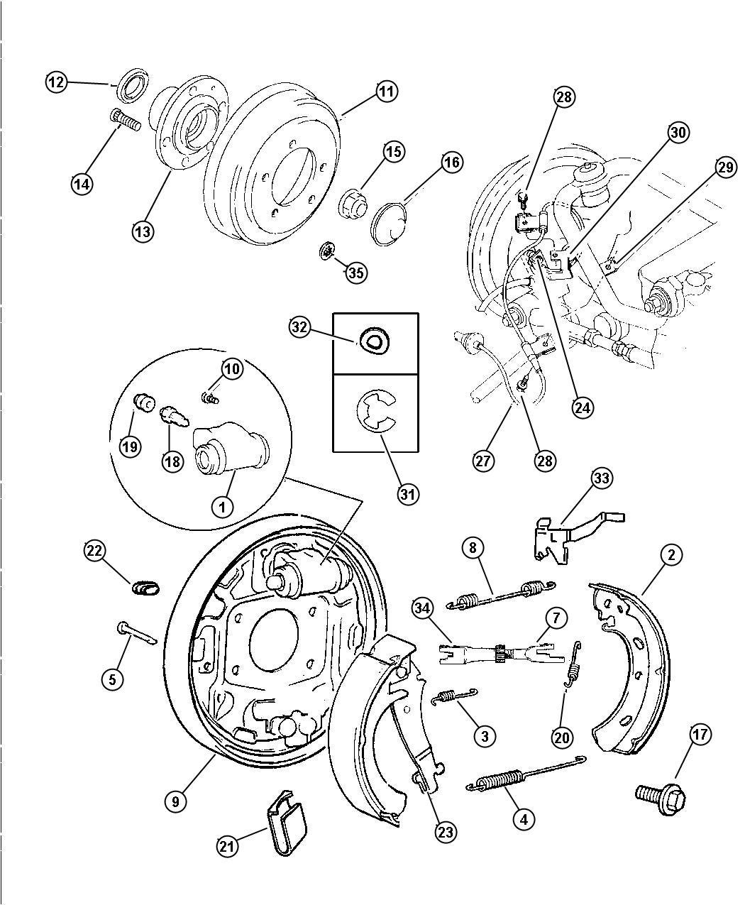 Dodge Ram Backing Plate Left Rear Drum Brake Plate