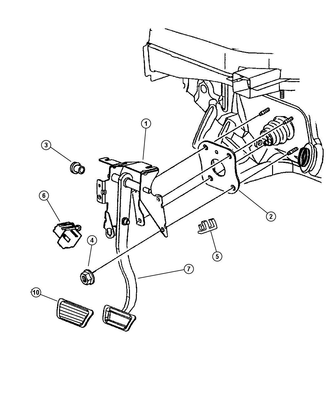 2000 Chrysler Lhs 4-DR Pedal, Brake.