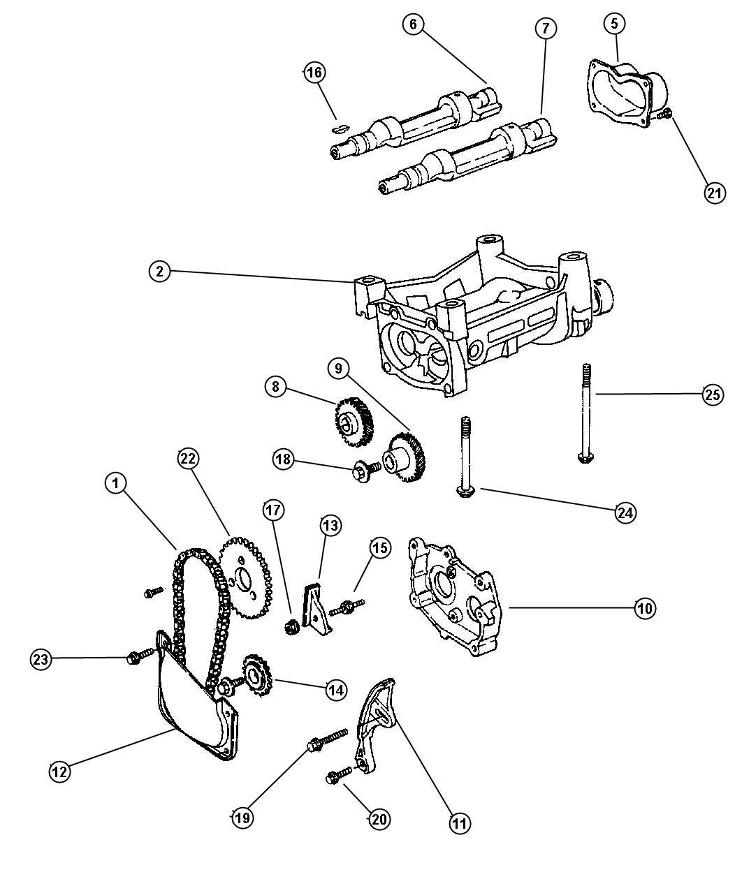 Chrysler Pt Cruiser Chain. Balance, balance shaft
