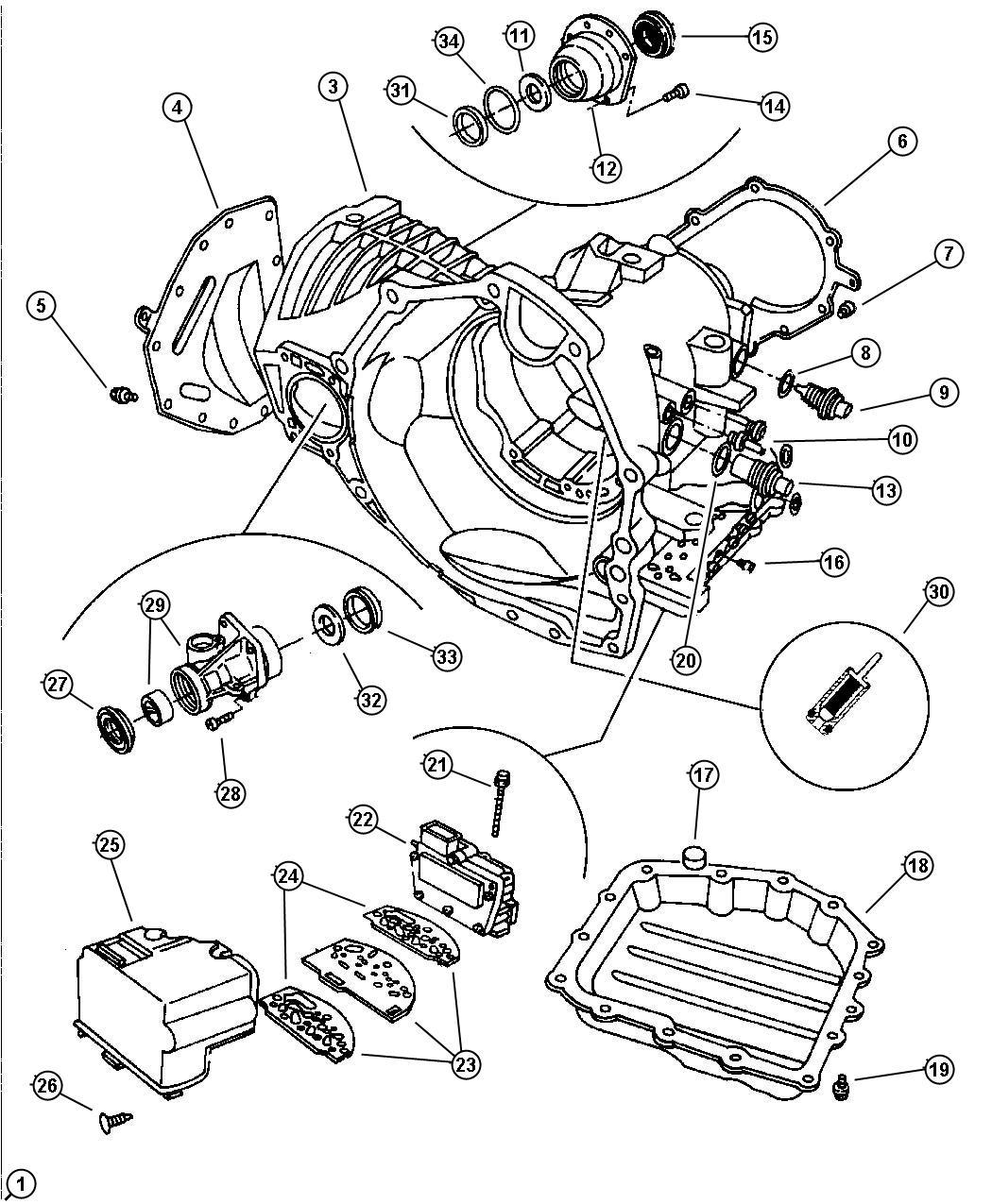 Chrysler Pacifica Sensor Transmission Output Speed