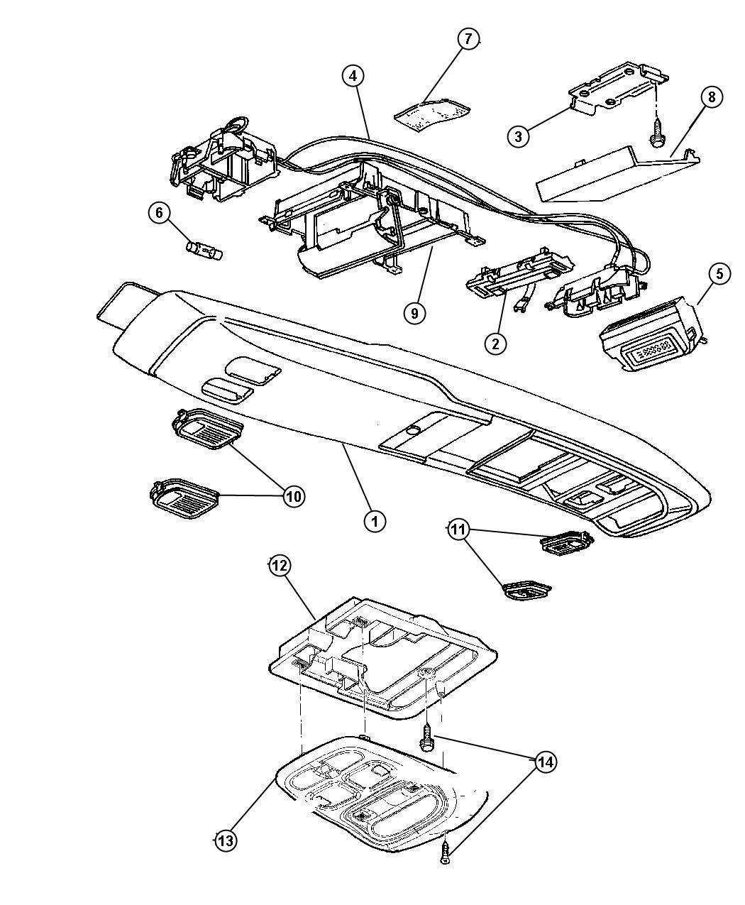 Jeep Wiring Overhead Console Full Type Ii Trim