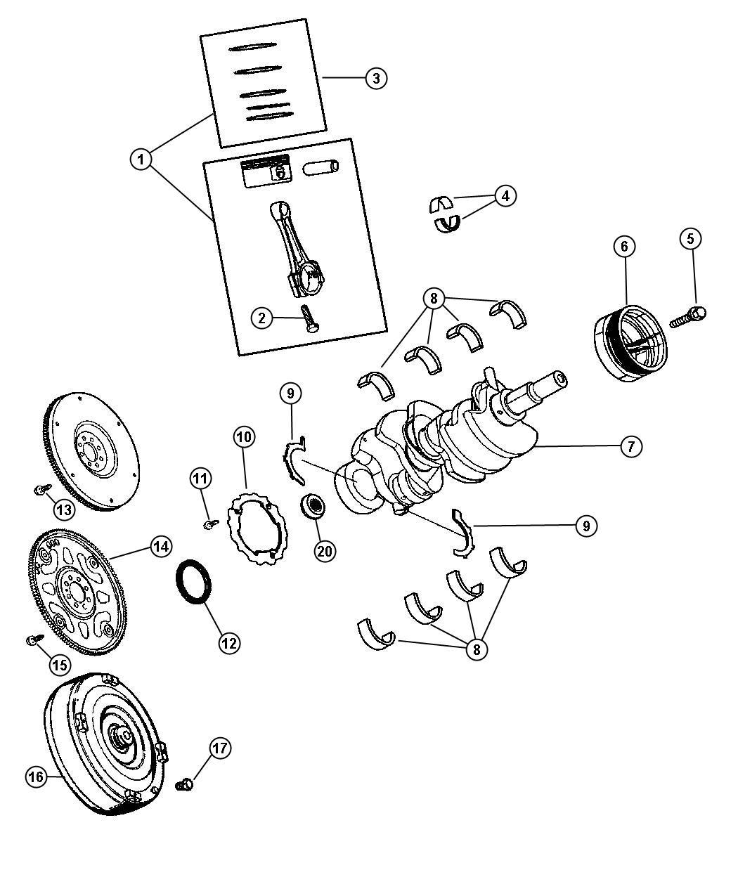 Dodge Nitro Ring Kit Ring Package Piston Standard