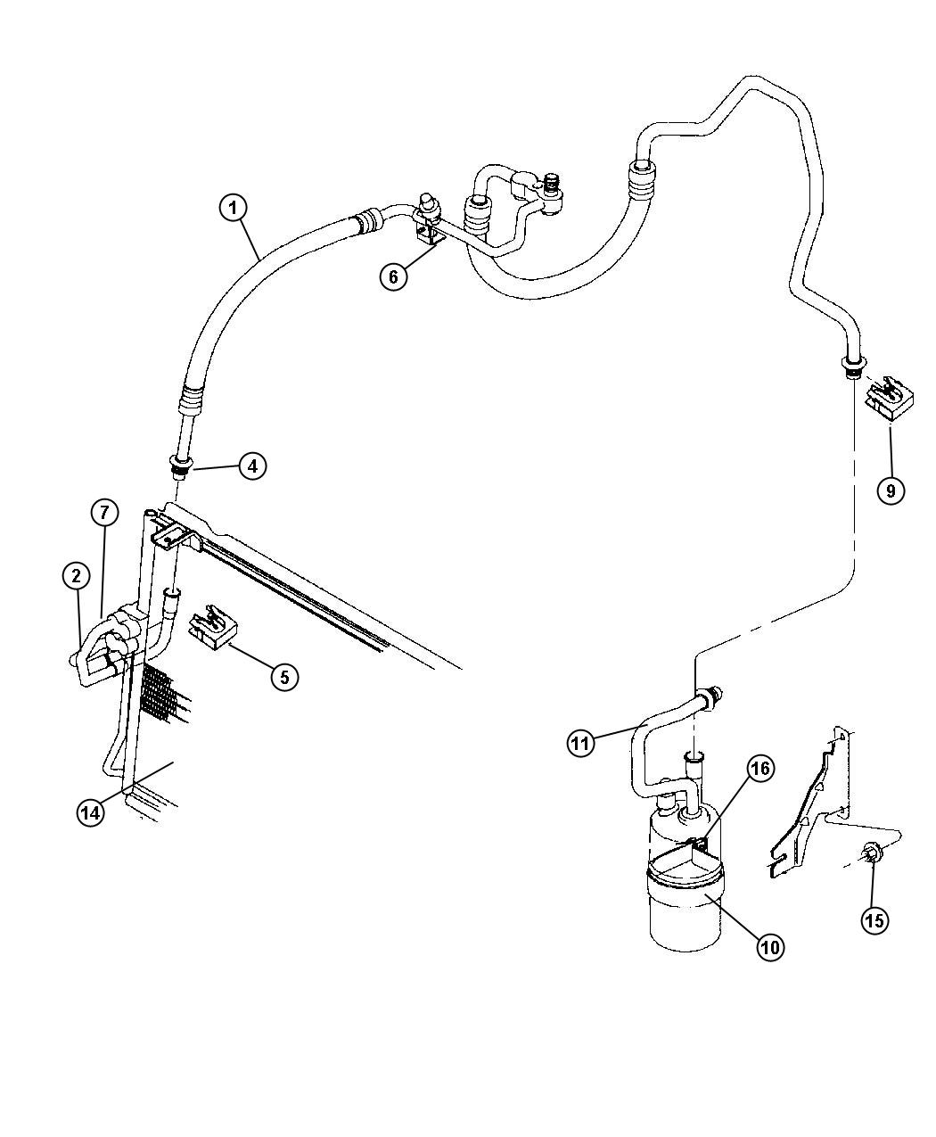 Jeep Cherokee Switch. A/c high pressure cut off. High