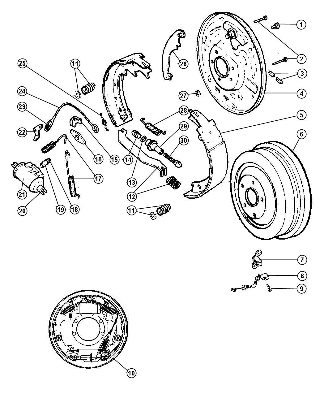 Jeep Wrangler Bolt Mounting Wheel Cylinder