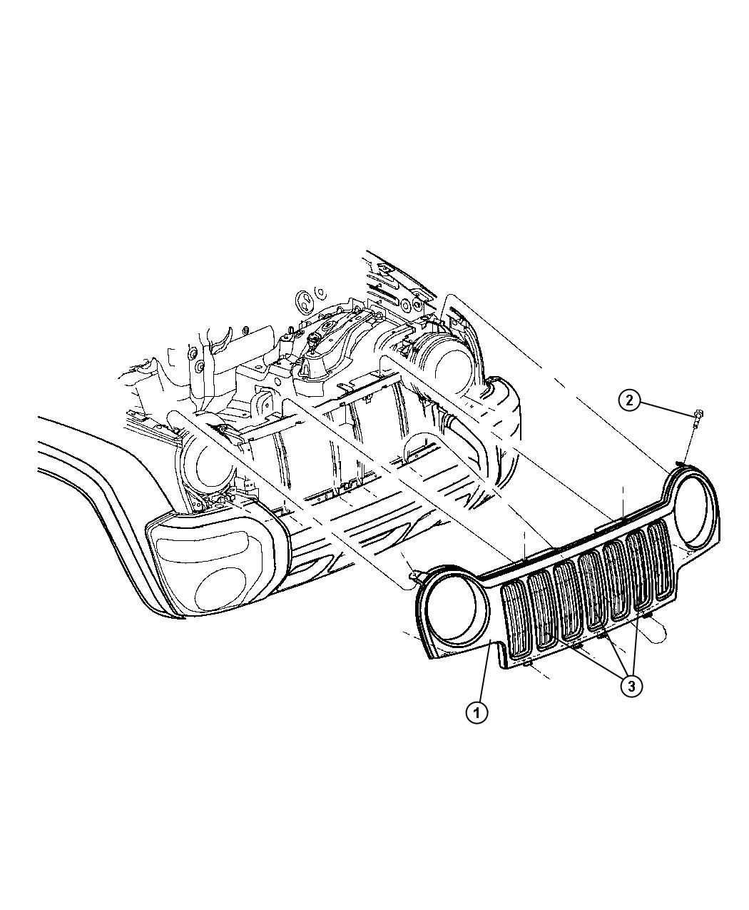 Jeep Liberty Grille Insert Radiator Texture Lnj