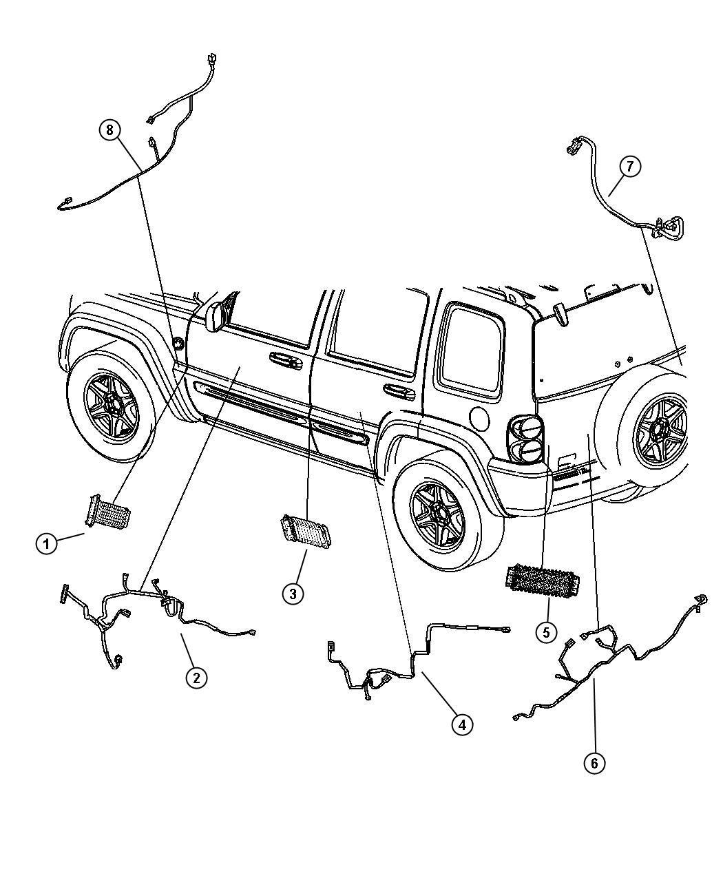 2005 Jeep Liberty Wiring. Jumper, power door lock. Handle