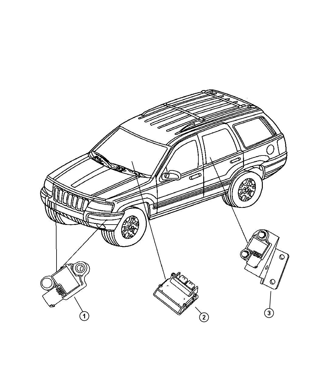 Jeep Grand Cherokee Sensor. Right. Air bag. Genmultistage