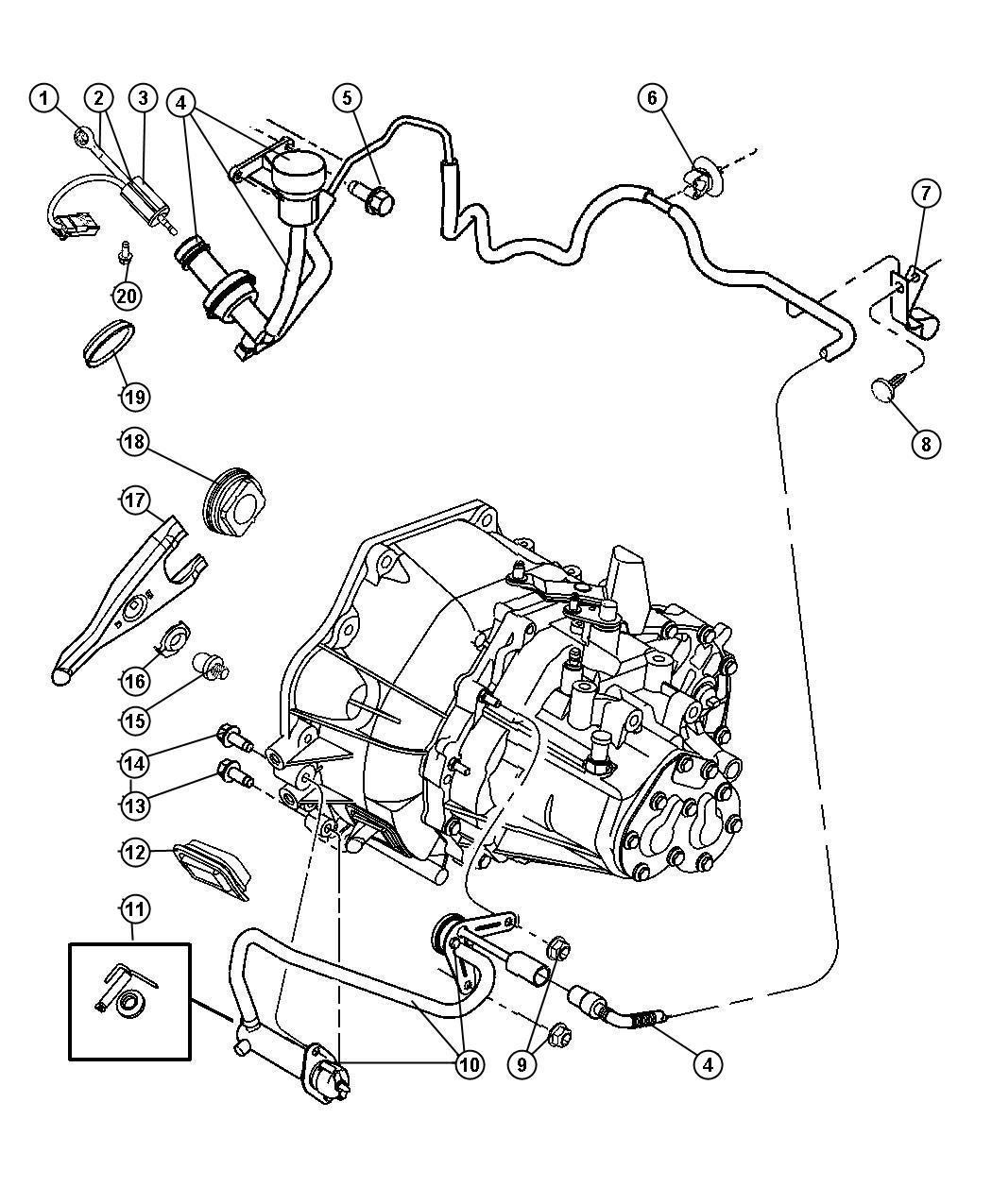 Jeep Compass Bushing Hydraulic Clutch Actuator