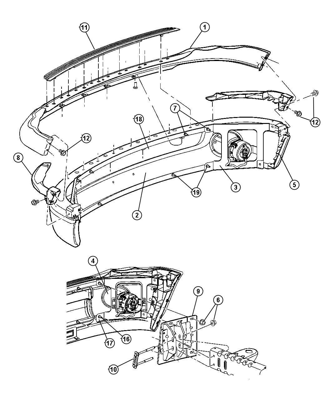 Dodge Ram Bumper Front