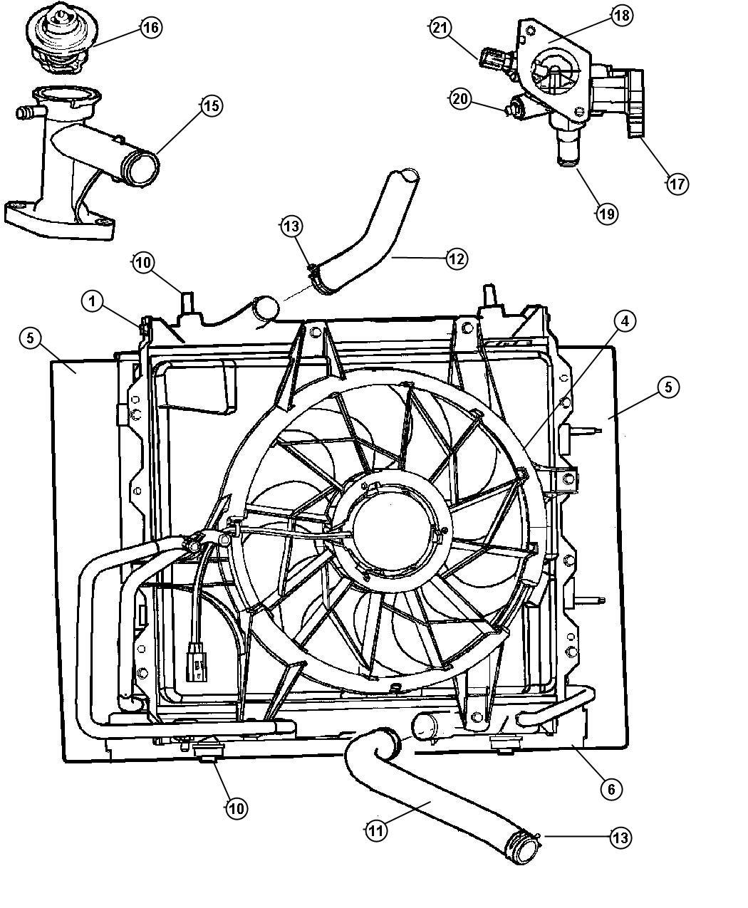 Chrysler Pt Cruiser Isolator Radiator Lower Isolator