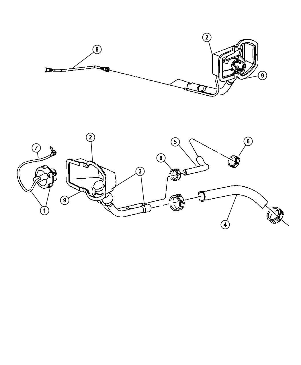 Dodge Tube Fuel Vapor Recirculation Nfv Fuel