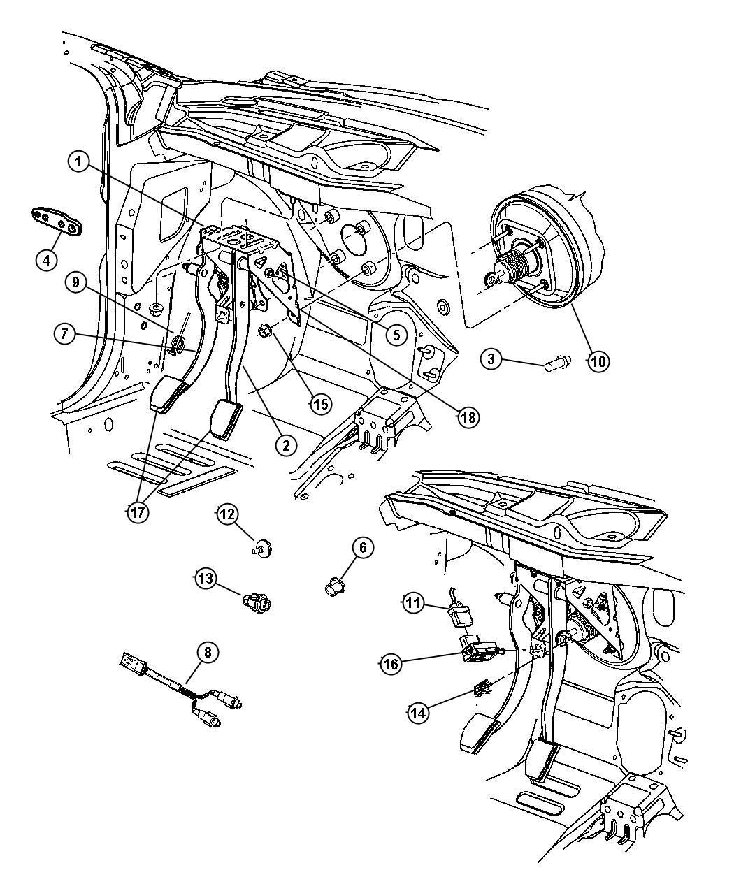 2006 Chrysler Pt Cruiser Clutch Pedal.