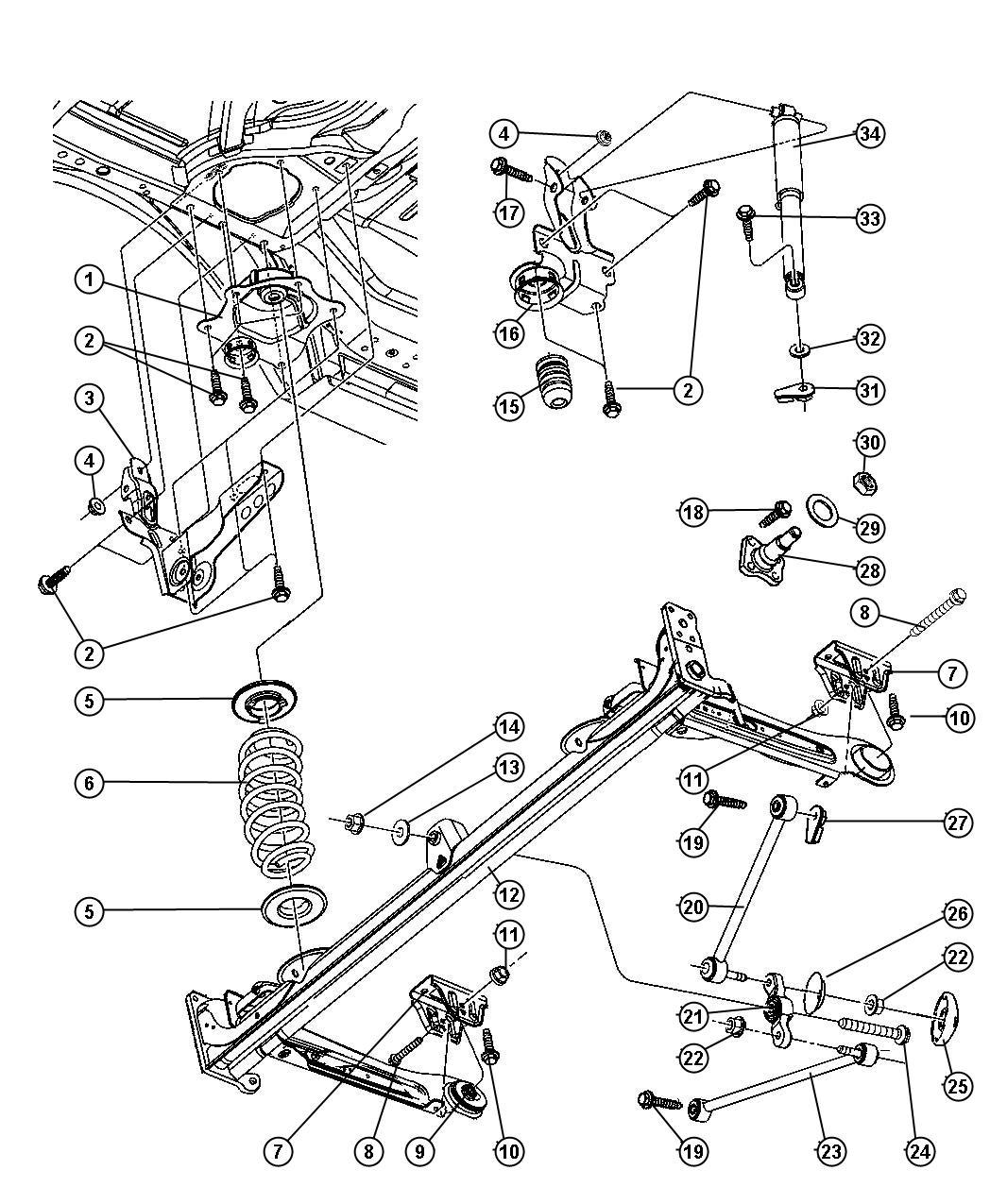 Dodge Durango Link. Sway eliminator, trackbar. Bell crank