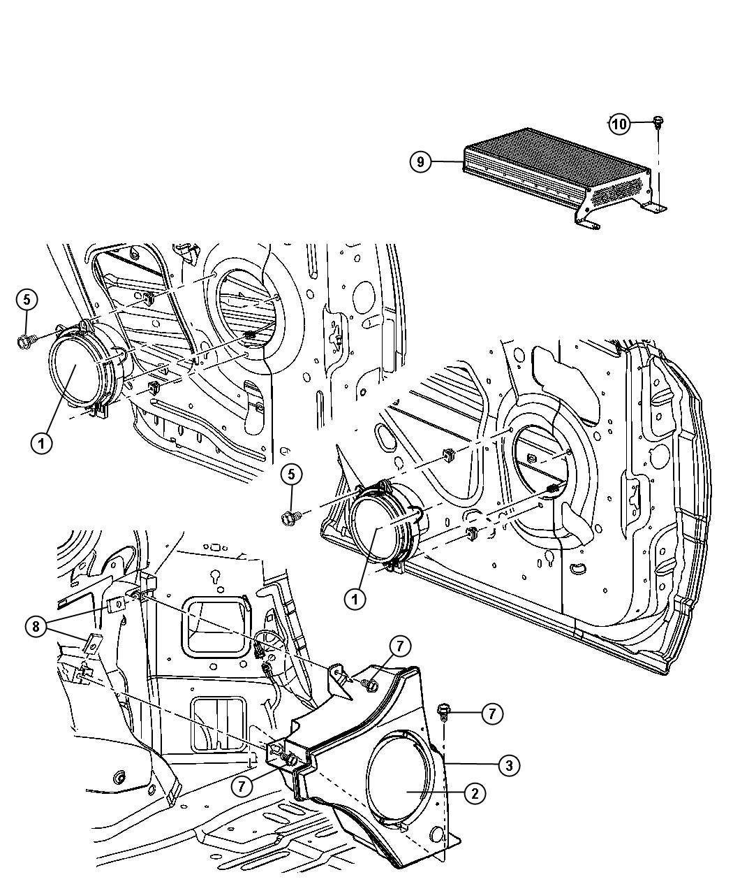 Chrysler pacifica subwoofer