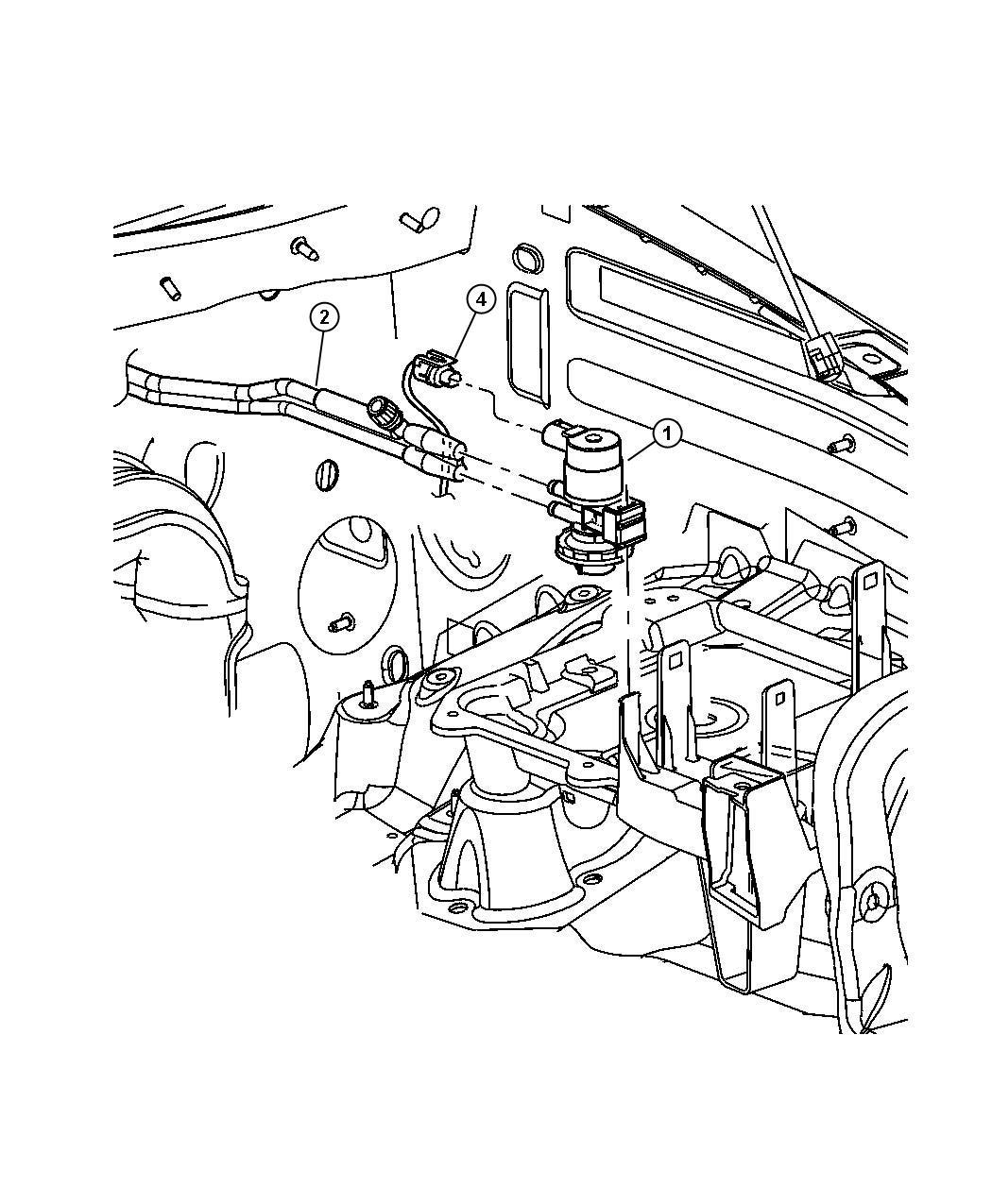 Jeep Liberty Emission Vacuum Harness 3.7L [EK0]