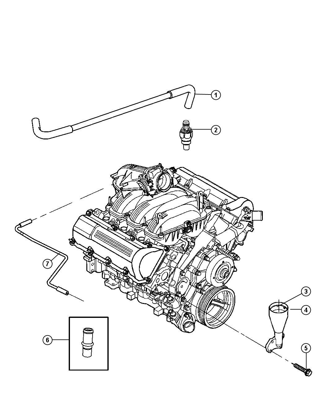 Jeep Commander Used for: PCV VALVE AND HOUSING, VALVE