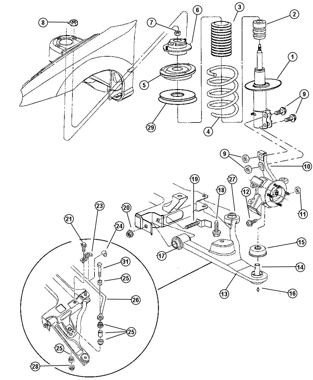 1997 dodge neon front engine fuse box diagram
