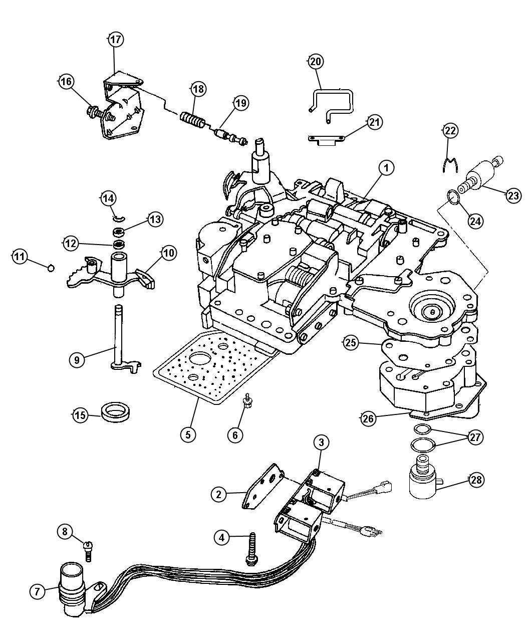 Dodge Durango Solenoid. Transmission overdrive. Prong