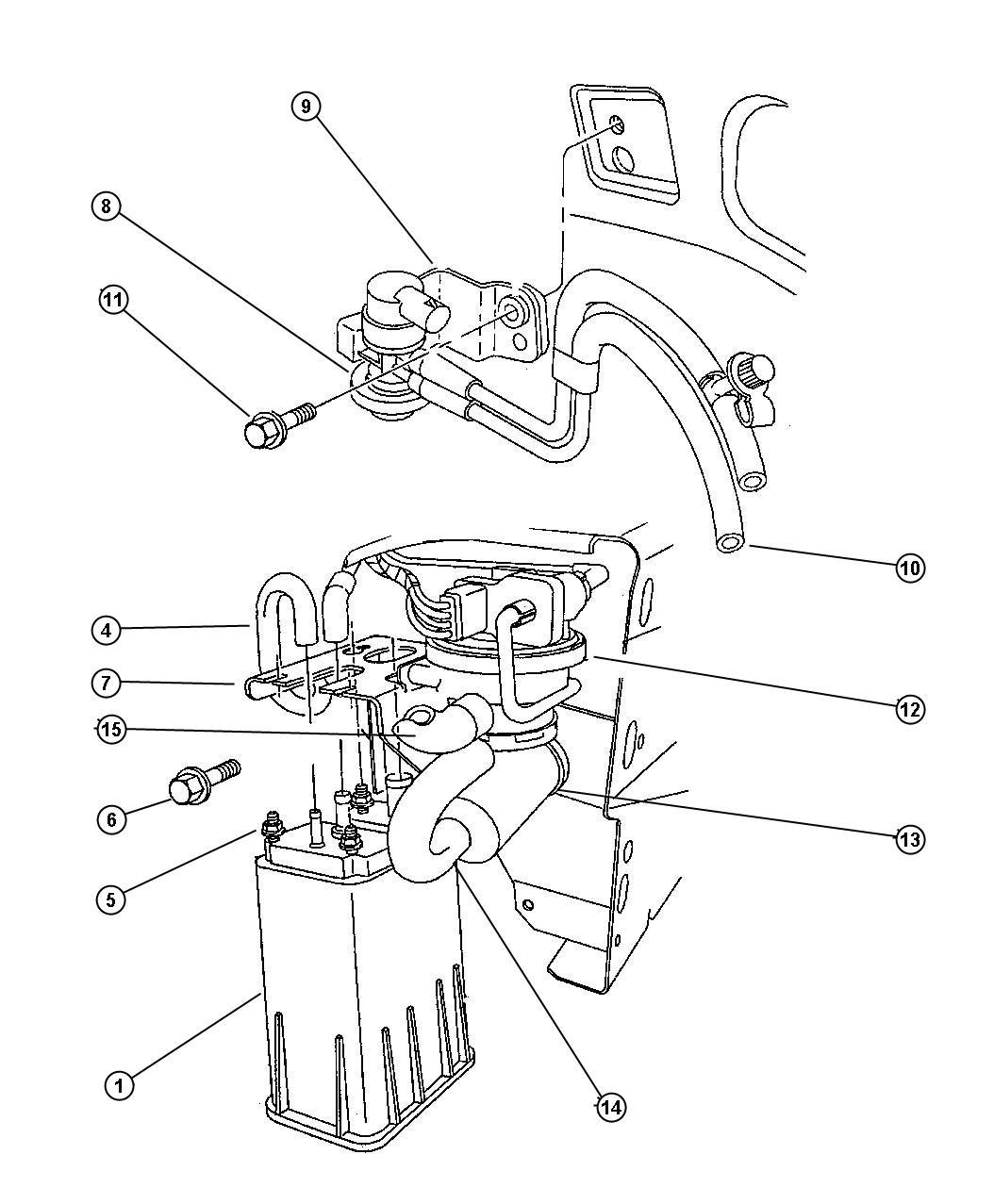 Chrysler Sebring Vapor Canister And Leak Detection Pump