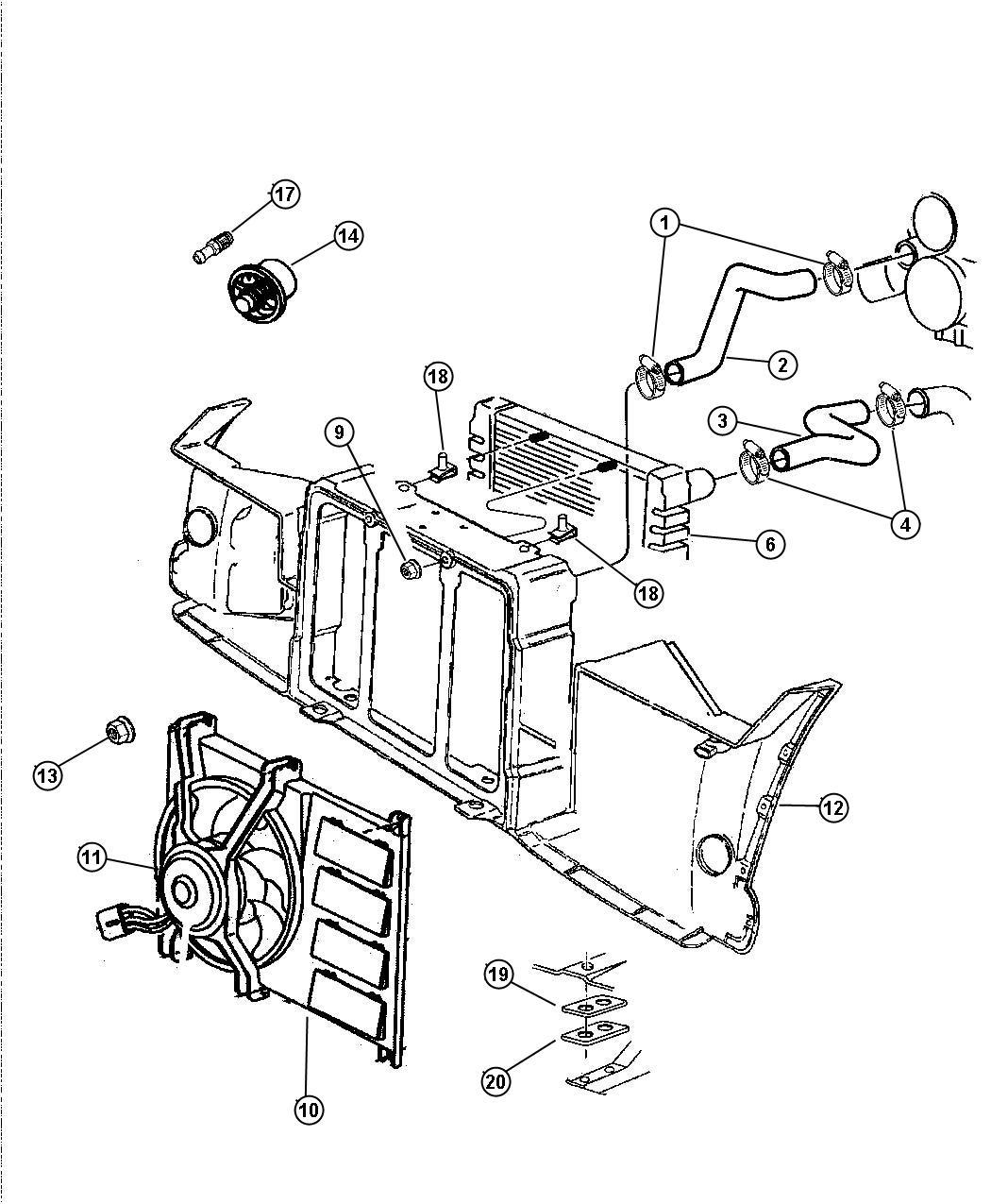 Dodge Viper Fan Module Radiator Engine Cooling