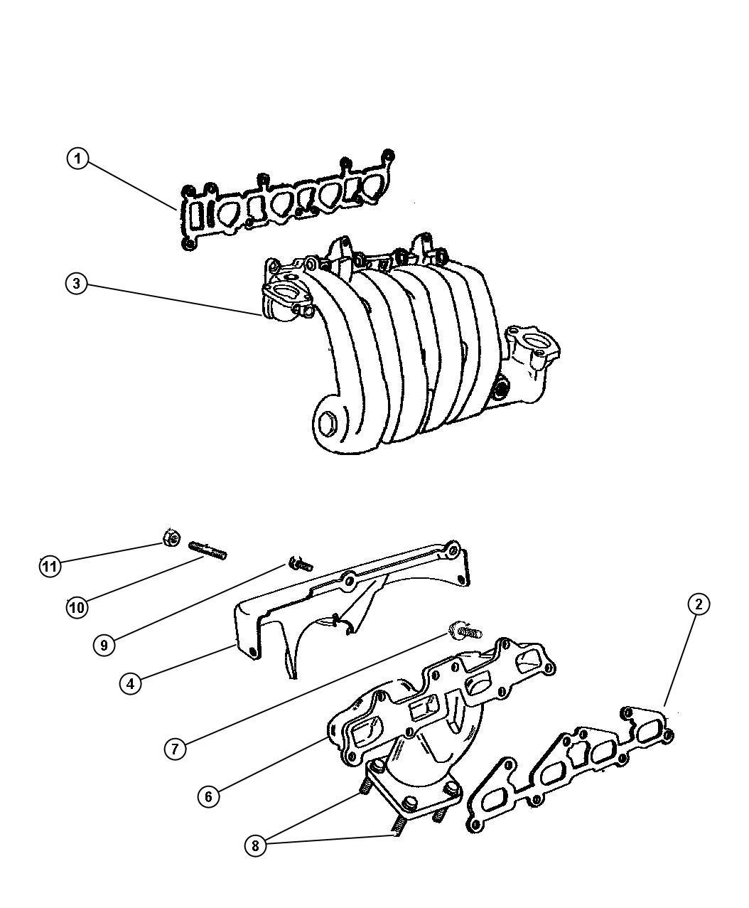 Jeep Liberty Bolt Hex Head M8x1 25x35 Exhaust Manifold