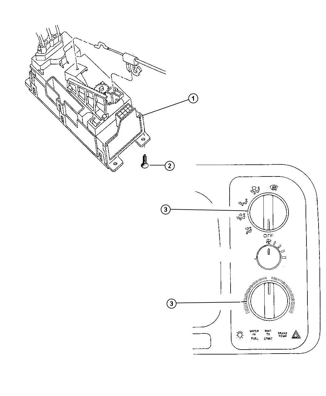 Dodge Grand Caravan Bulb Heater And A C Control Trim