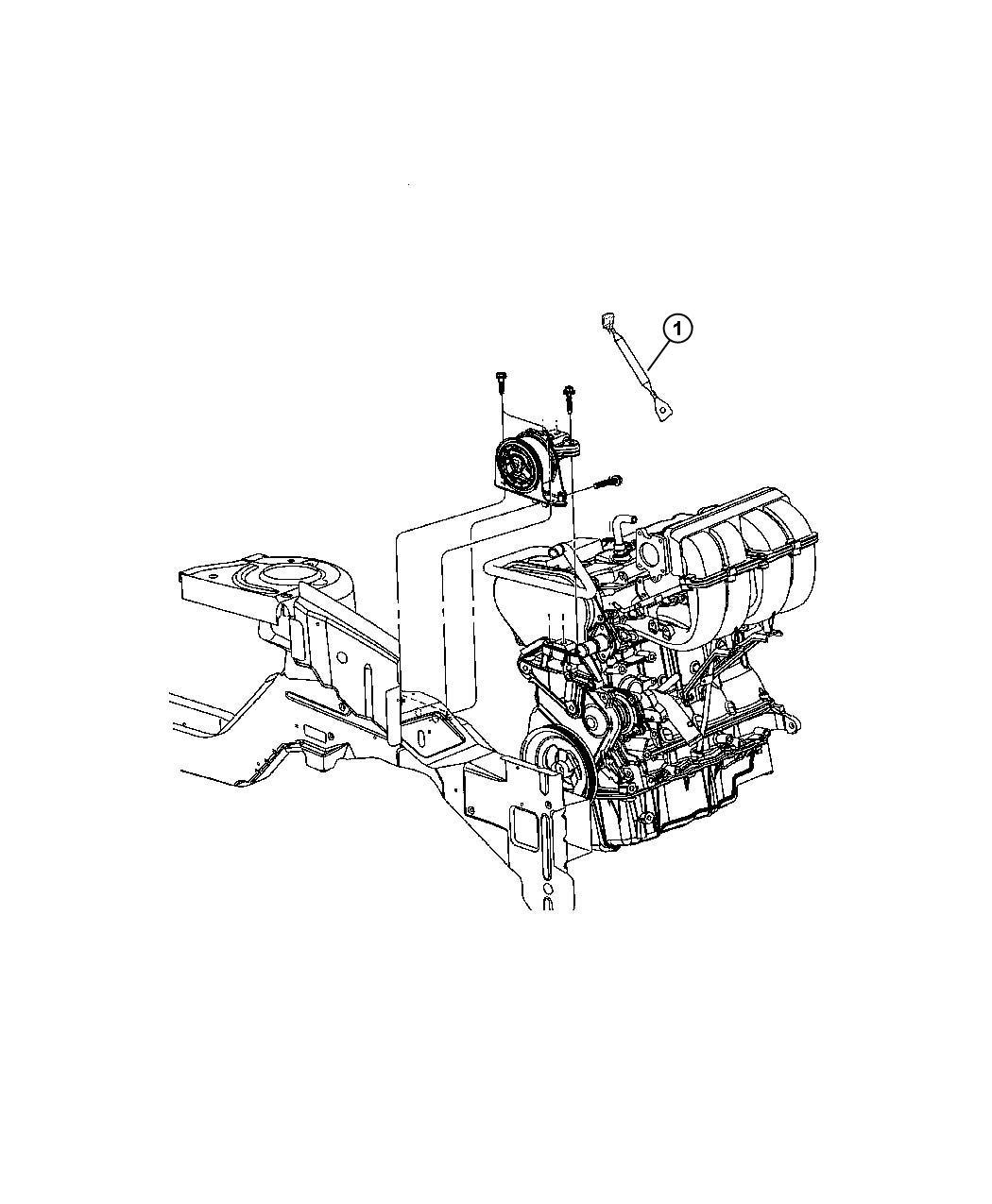 Dodge Grand Caravan Strap. Ground. Engine mount. Engine