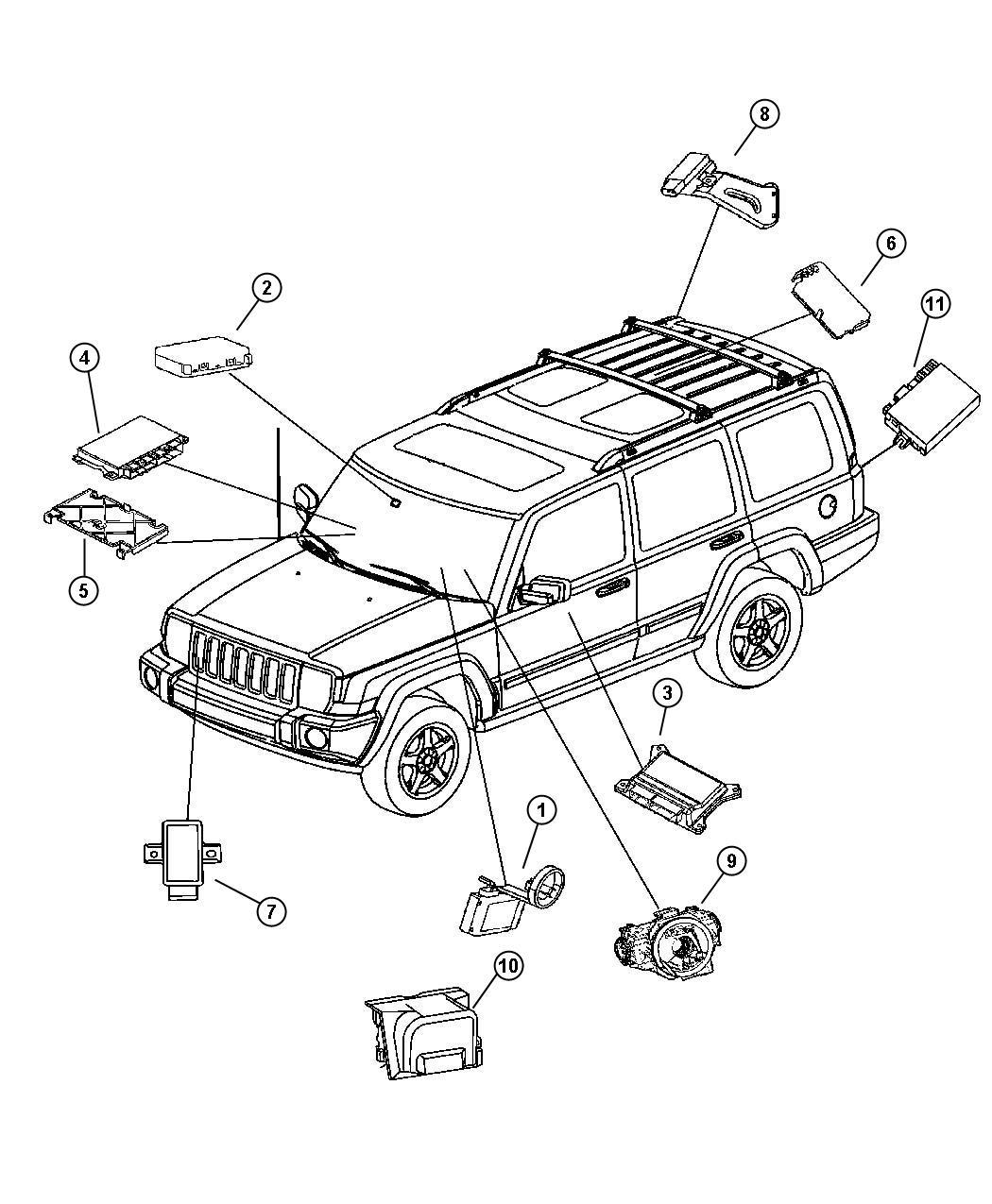 2006 Jeep Commander Module. Transmission control. Gdj