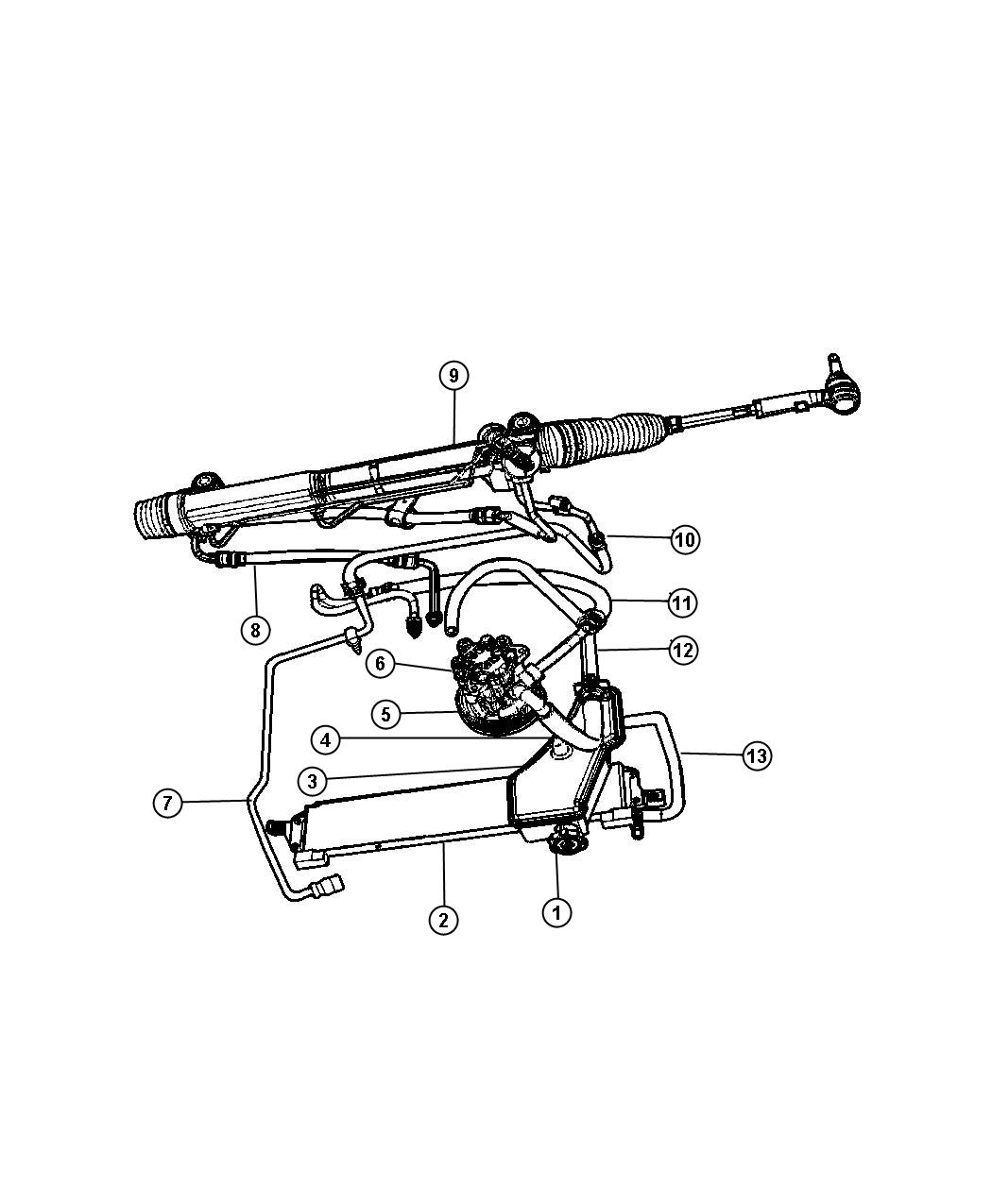 Jeep Commander Reservoir. Power steering fluid. [hydraulic