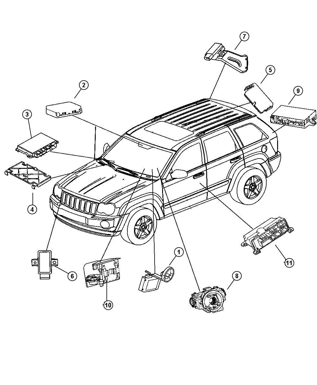2006 Jeep Commander Module. Transmission control