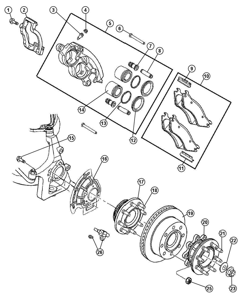 Oem Dodge Ram 3500 Brakes Parts Online Factory Chrysler