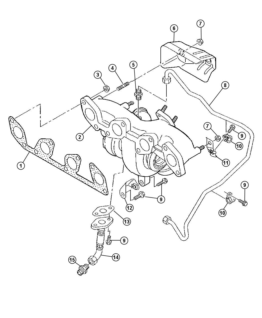 2008 Jeep Patriot Shield. Exhaust manifold, heat