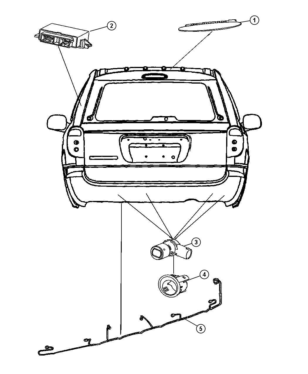 Chrysler Town Amp Country Sensor Park Assist