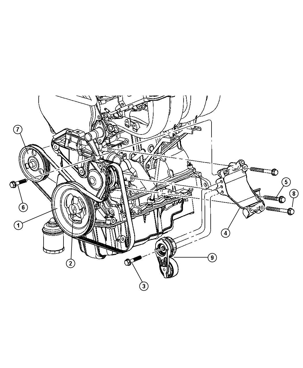 Jeep Liberty Damper Engine Vibration Ecm