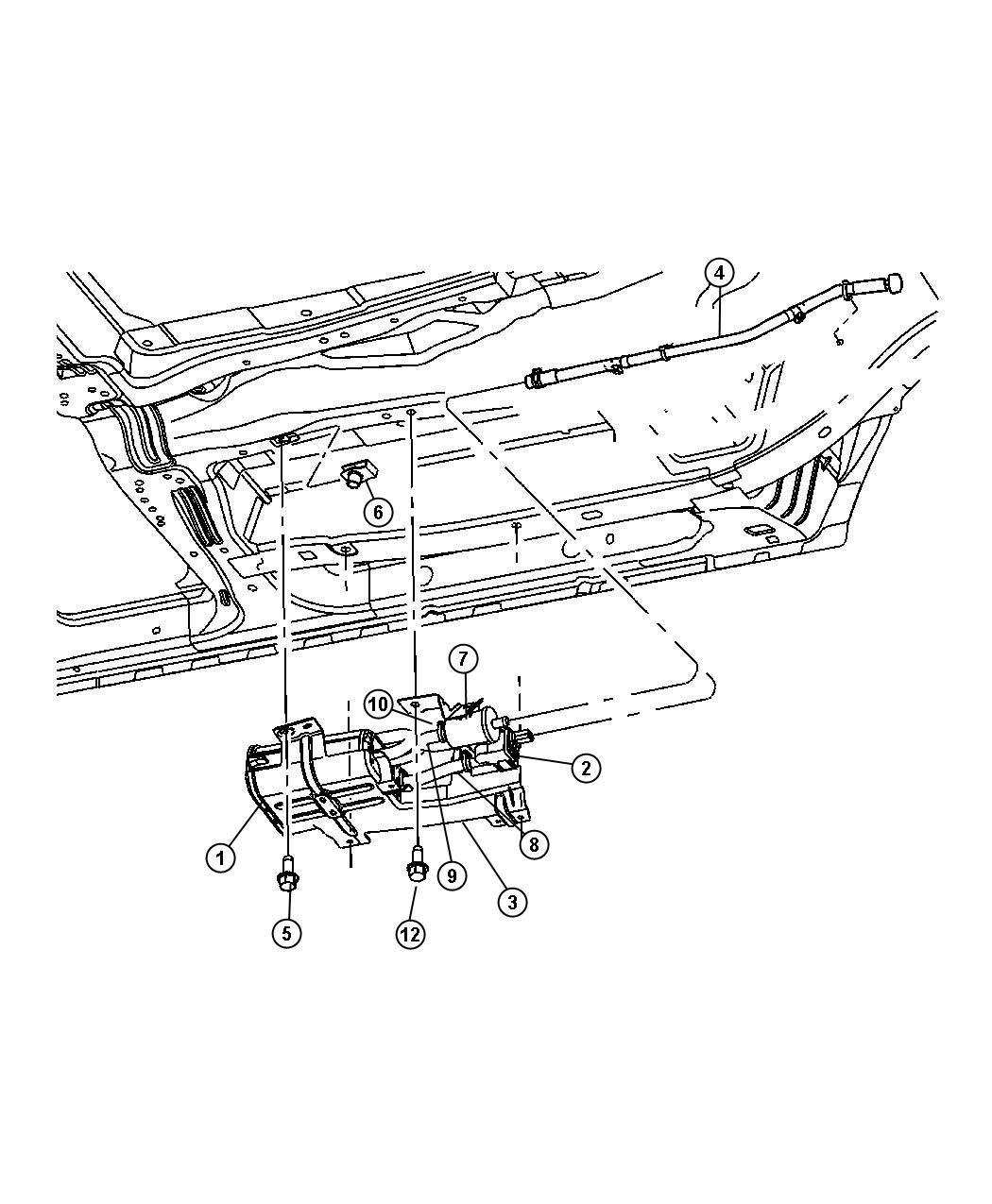 Chrysler Pacifica Hose Nvld Filter Vacuum Dectection