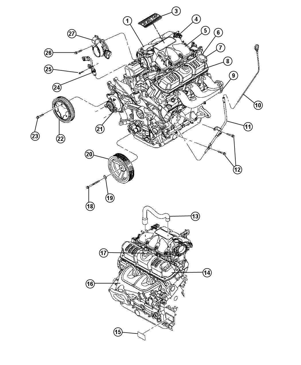 Engine Assembly Identification And Components 3 8l 3 8l