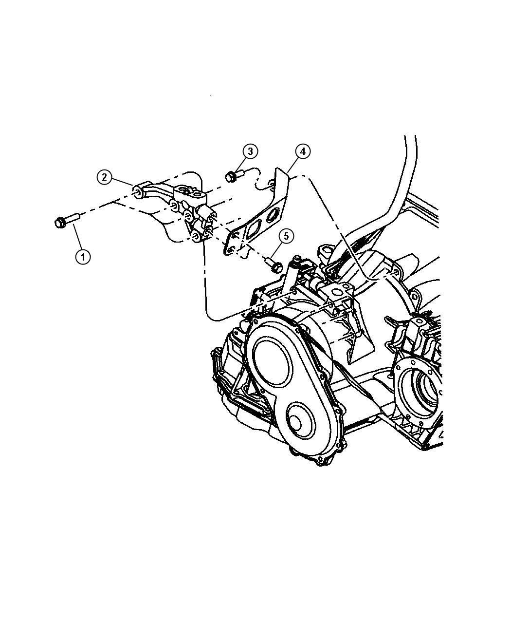 2006 Chrysler Pt Cruiser Support. Engine mount. Left
